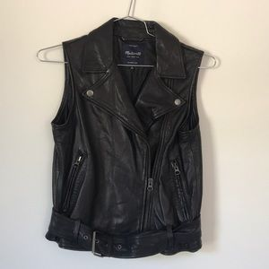 Madewell Leather Vest